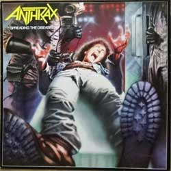 винил LP ANTHRAX ''Spreading The Disease'' (1986 German press, innersleeve, 207 476, vg/ex-)