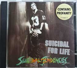 SUICIDAL TENDENCIES ''Suicidal For Life'' (1994 Austria press, sticker, 476885 2, ex-/near mint) (CD)