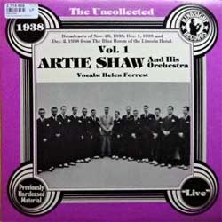 "винил LP ARTIE SHAW AND HIS ORCHESTRA ""The Uncollected Artie Shaw And His Orchestra 1938 Vol.1"" (1979 USA press, MONO, HSR-139, ex-/ex-)"