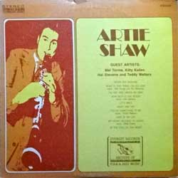 "винил LP ARTIE SHAW ""Artie Shaw"" (1972 USA press, FS-248, vg+/vg+)"