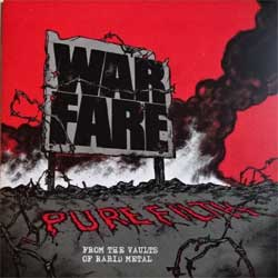 винил LP WARFARE ''Pure Filth From The Vaults Of Rabid Metal'' (2015 German press, insert, black vinyl, limited edition 200 copies, HRR 452, mint/mint, new)