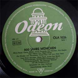 винил LP v-a 800 Jahre Munchen (10'') (1958 German press, OLA1026, sfc, vg-)
