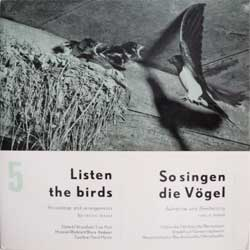 винил LP Listen The Birds (So singen die Vogel)-5 (8 tracks 7'') (German press, gatefold, laminated, EPHT11-12, mint/ex+)