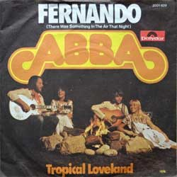 винил LP ABBA ''Fernando (There Was Something In The Air That Night) - Tropical Loveland'' (7''single) (1975 German press, vg+/ex)