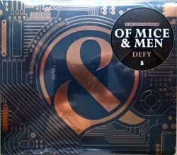 OF MICE & MAN ''Defy'' (2018 USA press, copper foil stamping, original sticker, RISE 403-2, new, sealed) (digipak) (CD) (D)