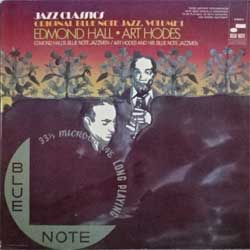 винил LP va ORIGINAL BLUE NOTE JAZZ, VOLUME 1: EDMOND HALL/ART HODES (1969 German press, gatefold, laminated, B-6504 K, ex+/ex)