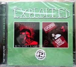 EXPLOITED ''Let's Start A War/Live And Loud!!'' (1983/1987 RI 2008 UK press, bonus-tracks, CD PUNK 154, new, sealed) (2xCD)