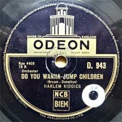 "пластинка патефонная HARLEM KIDDIES ""Do You Wanna Jump Children - May-fair Boogie"" (между 1940 и 1944 UK press, vg+) (PG593)"