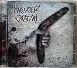 MALEVOLENT CREATION ''Australian Onslaught'' (2010 USA press, HM-003/AMG 805019312225, new, sealed) (CD)