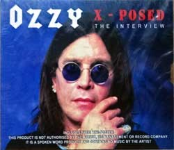 OZZY OSBOURNE ''X-Posed. The Interview'' (2002 UK RARE press, O-card, booklette, mini-poster, CTCD7030, new, sealed) (CD)