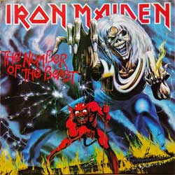 IRON MAIDEN ''The Number Of The Beast'' (1982 RI between 1989-1994 Holland press, 7463642, matrix CDP 746364 2 AR @ 1-1-4 NL, vg+/mint) (CD)