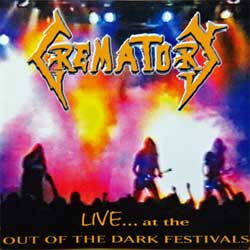 CREMATORY ''Live…At The Out Of The Dark Festivals'' (1996 German 1st press, IRS 992.056, matrix manufactured by optimal production 6101842AUD, ex/mint) (CD)