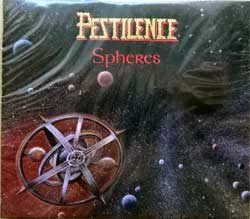 PESTILENCE ''Spheres'' (1993 RI 2017 Holland press, O-card, bonus-tracks, golden foil stamping, HHR 2017-16, new, sealed) (2xCD)