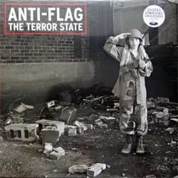 винил LP ANTI-FLAG ''The Terror State'' (2003 RI 2018 USA press, ORANGE VINYL, download card, original hype sticker, FAT 643-1, new, sealed)