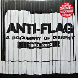 винил LP ANTI-FLAG ''A Document Of Dissent 1993-2013'' (2LP-gatefold) (2014 USA press, original sticker, insert, download card, FAT921-1, new, sealed)
