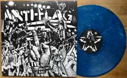 винил LP ANTI-FLAG ''Live Volume One'' (2016 UISA press, insert, limited edition, BLUE MARPLED VINYL, download card, AF081/LRR011, mint/mint, new)