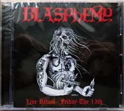 BLASPHEMY ''Live Ritual - Friday The 13th'' (2001 RI 2018 USA press, ANTI-GOTH 004, new, sealed) (CD)