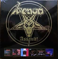 VENOM ''Assault!'' (6xCD-box) (1981/1982/1983/1984/1985/1987 RI 2017 UK press, remastered, DISS081CDBX, new, sealed) (CD)