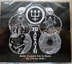 WATAIN ''Satanic Deathnoise From Beyonf - The First Four Albums (Rabid Death's Curse + Casus Luciferi + Sworn To The Dark + Lawless Darkeness)'' (4xCD-box) (2015 France press, bonustracks, SOM 369, new, sealed) (CD)