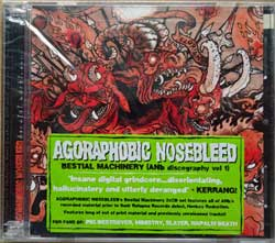 AGORAPHOBIC NOSEBLEED ''Bestial Machinery (ANb Discography Vol.1)'' (2005 USA press, original sticker, RR 6647-2, new, sealed) (2xCD)