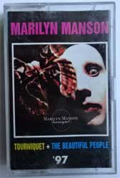 аудиокассета MARYLYN MANSON ''Tourniquet + The Beautiful People'' (1997 Russian RARE semi-official press, 1365, ex+/ex+) (MC1562)