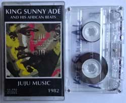 аудиокассета KING SUNNY ADE And His African Beats ''Juju Music'' (1982 RI 1998 Russian RARE press, near mint/near mint) (MC1599)