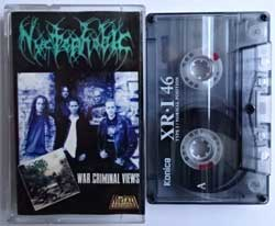 аудиокассета NYCTOPHOBIC ''War Criminal Views'' (1996 RI 2000 Russian RARE press, 959, mint/ex) (MC1601)