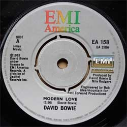 винил LP DAVID BOWIE ''Modern Love'' (7''single) (1983 UK press, EA 158, ex-/sfc)