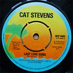 винил LP CAT STEVENS ''Last Love Song'' (7''single) (1978 UK press, WIP 6465, ex-/sfc)