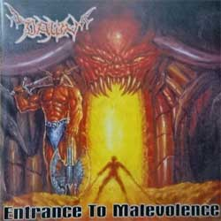 DAWN ''Entrance To Malevolence'' (1998 Spain press, QAB 007/RVP1, matrix DADC Austria A0100265025-0101  11 A0, mint/mint) (CD) (D)