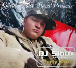 GHETTO VOICE FLAVA presents DJ SLOW ''Party 2Nite'' (2006 Russian press, embossed, fragmental UV-varnished, MDU 2006-10, ex/ex+) (digipak) (CD) (D)