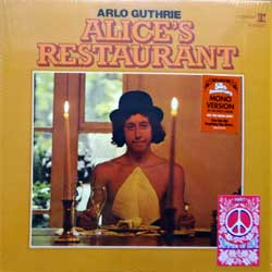 винил LP ARLO GUTHRIE ''Alice's Restaurant (1967 Summer Of Love Series)'' (1967 RI 2017 EU press, 2 original stickers, heavy vinyl, R1 6267, shrink wrap, near mint/mint)