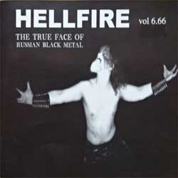 сборник HELLFIRE vol.6.66: The True Face Of Russian Black Metal (2004 Russian press, SAPCD 044, vg+/mint) (2xCD) (D)
