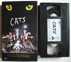 видеокассета ANDREW LLOYD WEBBER ''Cats'' (1998 Holland press, golden foil hot stamping, carboard box, ex/ex)
