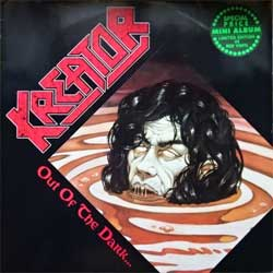 винил LP KREATOR ''Out Of The Dark… Into The Light'' (1988 German RARE press, RED VINYL, insert, N0018-4, vg+/vg+)