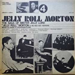 винил LP JELLY ROLL MORTON ''Jelly Roll Morton & His Red Hot Peppers Vol.4'' (1973 Italy press, collector's edition, SM 3553, ex-/ex+)