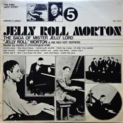 винил LP JELLY ROLL MORTON ''Jelly Roll Morton & His Red Hot Peppers Vol.5'' (1973 Italy press, collector's edition, SM 3554, ex-/ex-)
