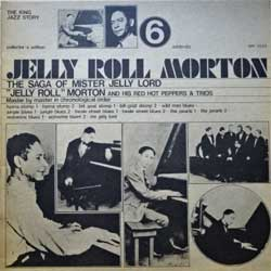 винил LP JELLY ROLL MORTON ''Jelly Roll Morton & His Red Hot Peppers Vol.6 (& Trios, addenda)'' (1973 Italy press, collector's edition, SM 3555, ex/ex+)