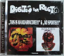 DIGITUS IN RECTO ''This Is Mandarincore!'' & ''No Sports'' (CD-R)