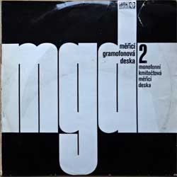 винил LP УСТАНОВОЧНЫЙ ДИСК: MERICI GRAMOFONOVA DESKA-2 (1971 Czechoslovak press, laminated, синее с серебром яблоко, 0 19 1087, vg+/vg)