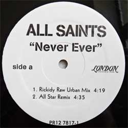 винил LP ALL SAINTS ''Never Ever'' (4-track 12'') (1997 UK RARE PROMO press, sfc, ex+)