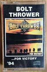 аудиокассета BOLT THROWER ''…For Victory'' (1994 RI Russian RARE press, 031, ex/mint)  (MC2589)