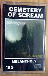 аудиокассета CEMETARY OF SCREAM ''Melancholy'' (1995 RI Russian RARE press, 135, ex/ex+) (MC2594)
