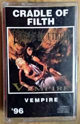 аудиокассета CRADLE OF FILTH ''Vempire'' (1996 Russian RARE press, 171, ex/mint) (MC2597)