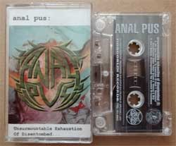аудиокассета ANAL PUS ''Unsurmountable Exhaustion Of Disentombed'' (1998 Russian RARE press, HBR 02804, ex/ex) (MC894)
