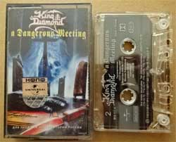 аудиокассета KING DIAMOND ''A Dangerous Meeting'' (1992 RI 200? Russian RARE press, holographic sticker, 619 117-4, ex+/mint) (MC904)