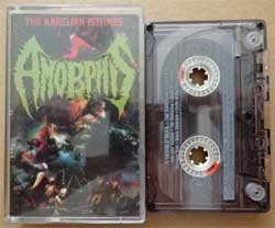 аудиокассета AMORPHIS ''Elegy'' (1993 RI 1997 Russian press, HBR 012-4, ex/ex) (MC908)