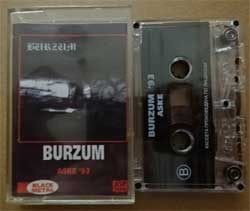 аудиокассета BURZUM ''Aske'' (1993 RI 1999 Russian RARE press, ex/ex) (MC915)