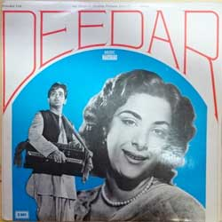 винил LP India: NAUSHAD ''Deedar OST'' (1975 India RARE press, EALP 4066, ex-/ex-) (D)