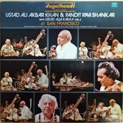 винил LP India: USTAD ALI AKBAR KHAN & PANDIT RAVI SHANKAR with USTAD ALLA RAKHA ''At San Francisco'' (1983 India RARE press, ECSD 41516, near mint/ex) (D)
